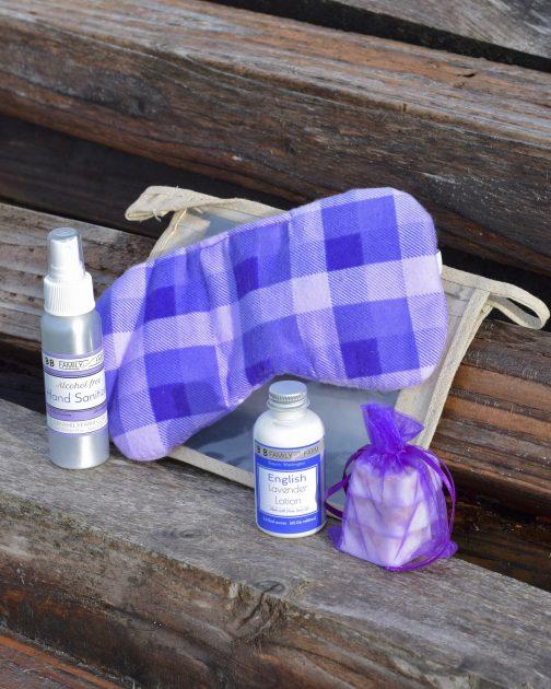 lavender plane pouch
