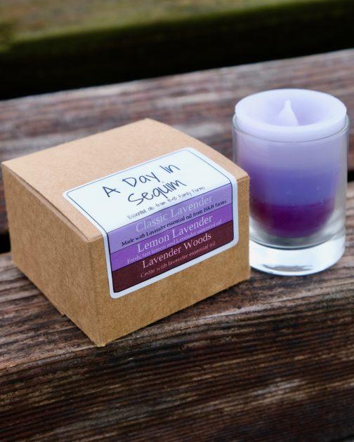 Lavender Sequim candle