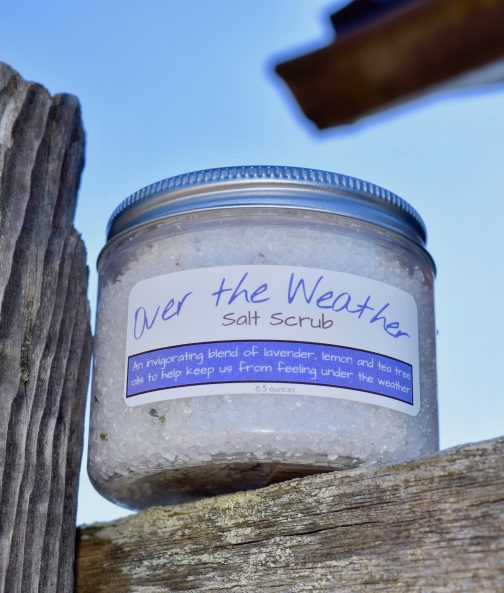 over the weather lavender salt scrub
