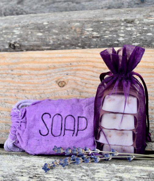 Lavender lemon oatmeal soap bars