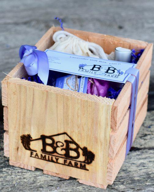 lavender gift box mini