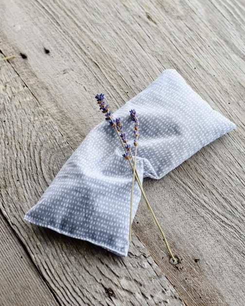 lavender eye pillow grey