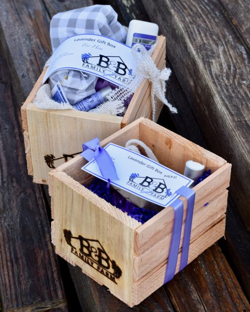 lavender gift boxes