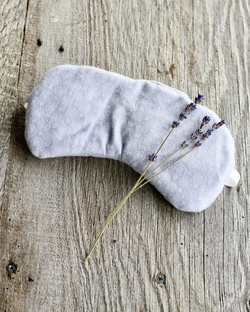 lavender sleep mask grey