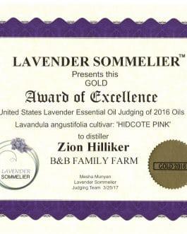 Lavender Sommelier 2016 Grosso Award